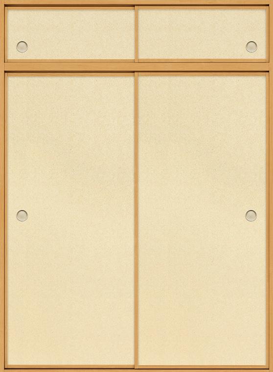 特注 和襖 引戸 引き違い2枚建て SCHH-AF1 在来工法 ノンケーシング付枠 天袋付き W:616-2,016mm × H(天窓+本体):780-2,550mm 新和風 DIY リフォーム