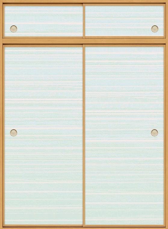 特注 和襖 引戸 引き違い2枚建て SCHH-AF2 在来工法 ノンケーシング付枠 天袋付き W:616-2,016mm × H(天窓+本体):780-2,550mm 新和風 DIY リフォーム