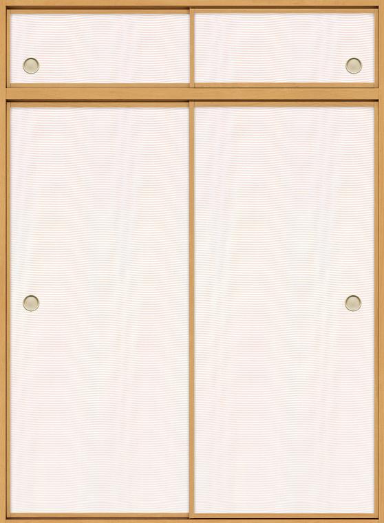 特注 和襖 引戸 引き違い2枚建て SCHH-AF3 在来工法 ノンケーシング付枠 天袋付き W:616-2,016mm × H(天窓+本体):780-2,550mm 新和風 DIY リフォーム