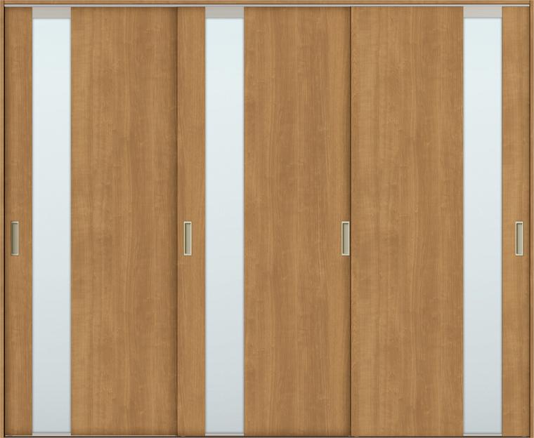 TA 室内引戸 Vレール方式 引違い戸3枚建て 鍵なし DSHT-EGT 2420 W:2,462mm × H:2,023mm ノンケーシング枠 固定枠 LIXIL リクシル TOSTEM トステム DIY リフォーム