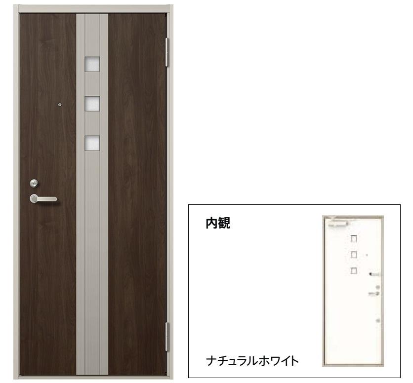 玄関 ドア アパートドア リクシル リジェーロα ランマ無 K4仕様 1ロック 32型 W785×H1912 DIY リフォーム