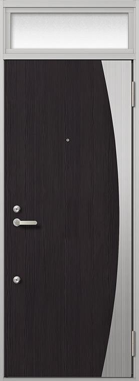 玄関 ドア アパートドア リクシル リジェーロα ランマ付き K6仕様 1ロック 13型 W:785mm × H:2,225mm DIY リフォーム