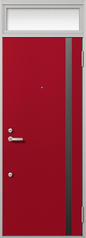 玄関 ドア アパートドア リクシル リジェーロα ランマ付き K4仕様 1ロック 14型 W:785mm × H:2,225mm DIY リフォーム