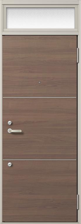 玄関 ドア アパートドア リクシル リジェーロα ランマ付き K4仕様 1ロック 15型 W:785mm × H:2,225mm DIY リフォーム
