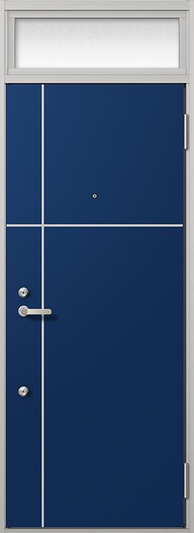 玄関 ドア アパートドア リクシル リジェーロα ランマ付き K6仕様 2ロック 16型 W:785mm × H:2,225mm DIY リフォーム