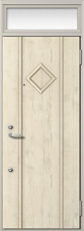 玄関 ドア アパートドア リクシル リジェーロα ランマ付き K6仕様 2ロック 22型 W:785mm × H:2,225mm DIY リフォーム