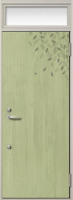 玄関 ドア アパートドア リクシル リジェーロα ランマ付き K6仕様 2ロック 23型 W:785mm × H:2,225mm DIY リフォーム