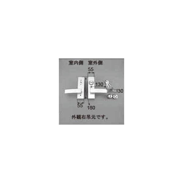 リクシル ドア・引戸用部品 錠 玄関・店舗・勝手口・テラスドア 把手:レバーハンドル AZWB402 LIXIL トステム メンテナンス DIY リフォーム