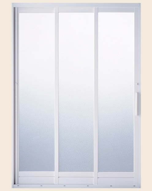 BF浴室3枚引戸 プレートハンドルタイプ 樹脂パネル仕様 呼称1618 [W:1612mm×H:1818mm] LIXIL リクシル TOSTEM トステム