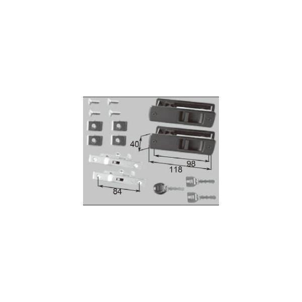 リクシル ドア・引戸用部品 錠 玄関・店舗・勝手口引戸 引手錠:戸先内外錠セット DAAZH18 LIXIL トステム メンテナンス DIY リフォーム