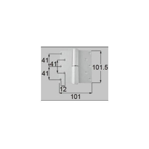 リクシル ドア・引戸用部品 丁番 玄関・店舗・勝手口・テラスドア:丁番 プレナス用右吊 R DCFZ713 LIXIL トステム メンテナンス DIY リフォーム