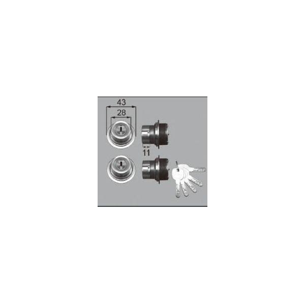 リクシル ドア・引戸用部品 錠 玄関・店舗・勝手口・テラスドア ロック:シリンダーセットJN DCZZ1010 LIXIL トステム メンテナンス DIY リフォーム