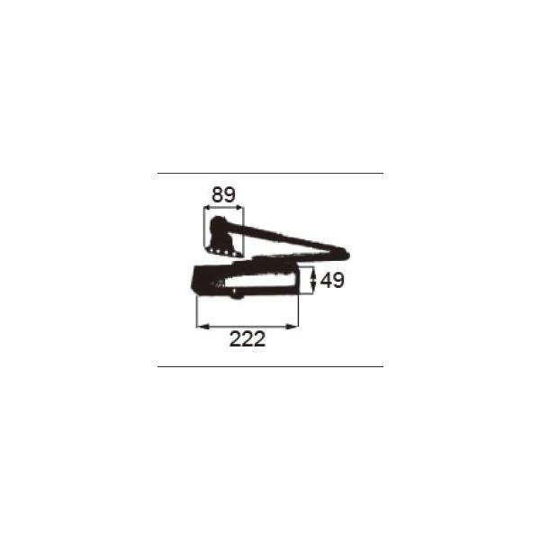 リクシル ドア・引戸用部品 ドアクローザ 玄関・店舗・勝手口・テラスドア:ドアクローザ DEJZ020 LIXIL トステム メンテナンス DIY リフォーム
