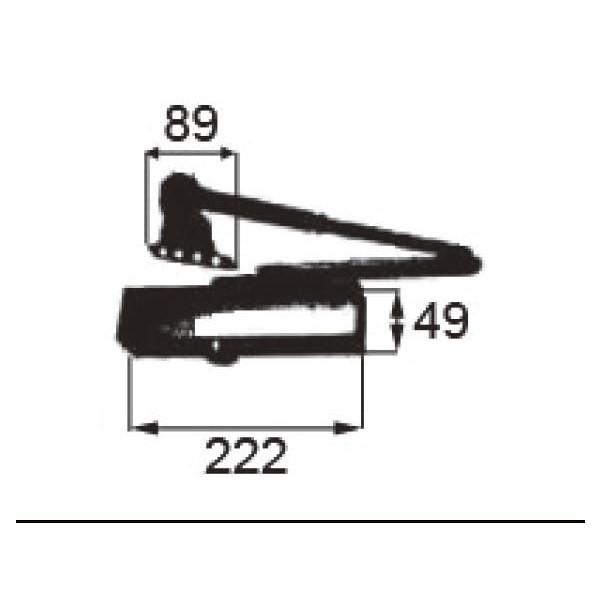 リクシル 部品 ドアクローザ DEJZ020 LIXIL トステム メンテナンス DIY リフォーム