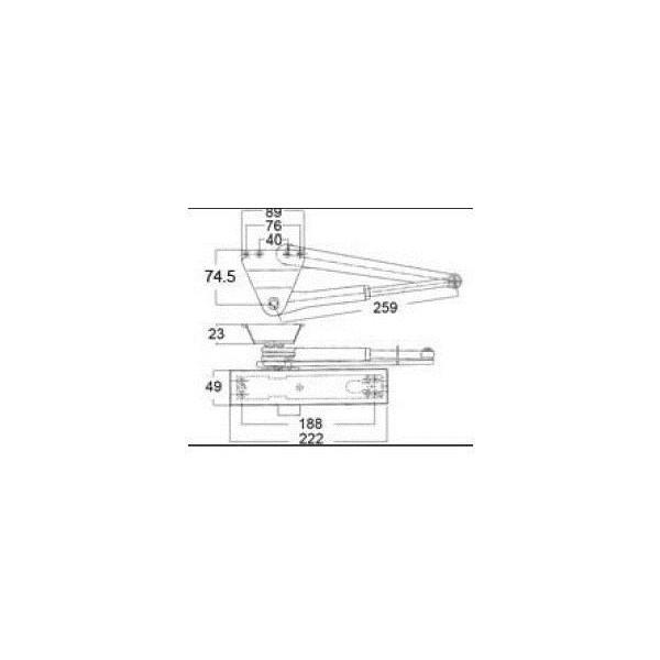 リクシル ドア・引戸用部品 ドアクローザ 玄関・店舗・勝手口・テラスドア:ドアクローザ DGZZ1021R LIXIL トステム メンテナンス DIY リフォーム