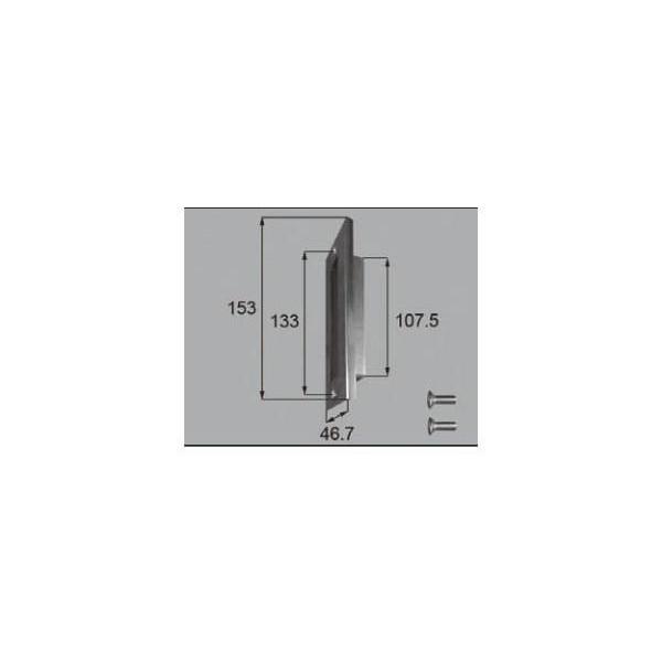 リクシル ドア・引戸用部品 錠 玄関・店舗・勝手口・テラスドア ストライクセット:ストライクセット FNMZ001 LIXIL トステム メンテナンス DIY リフォーム