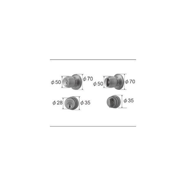 リクシル ドア・引戸用部品 錠 玄関・店舗・勝手口・テラスドア 把手:握り玉セット FNMZ139 LIXIL トステム メンテナンス DIY リフォーム