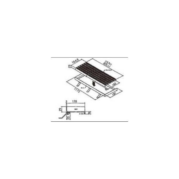 リクシル ドア・引戸用部品 その他 浴室ドア・引戸:グレーチング MNLZ13 LIXIL トステム メンテナンス DIY リフォーム