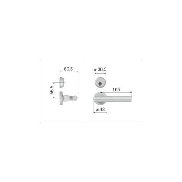 リクシル リビング建材用部品 ドア ハンドル:スタイルGタイプ把手シリンダー錠 MZTZTGC52 LIXIL トステム メンテナンス DIY リフォーム