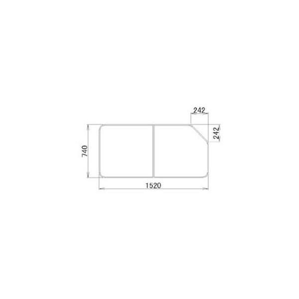 リクシル 住器用部品 バスルーム 浴槽 浴槽蓋:組み蓋 740×1520 RGFZ102 LIXIL トステム メンテナンス DIY リフォーム