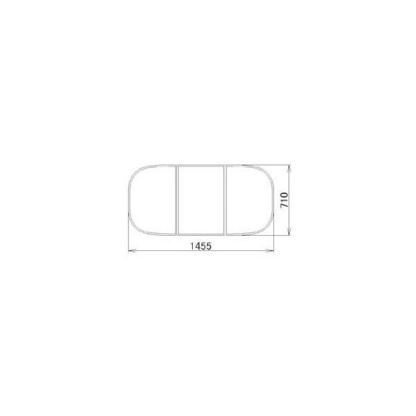 リクシル 住器用部品 バスルーム 浴槽 浴槽蓋:組み蓋 710×1455 RMBX009 LIXIL トステム メンテナンス DIY リフォーム