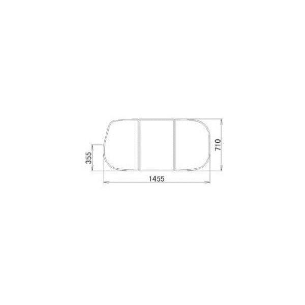 激安特価  浴槽 リクシル DIY リフォーム:Clair(クレール)店 LIXIL バスルーム 住器用部品 RMBX010 メンテナンス トステム 浴槽蓋:組み蓋  710×1455-木材・建築資材・設備