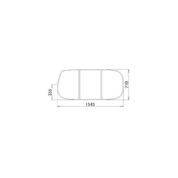 リクシル 住器用部品 バスルーム 浴槽 浴槽蓋:組み蓋 710×1545 RMBX012 LIXIL トステム メンテナンス DIY リフォーム