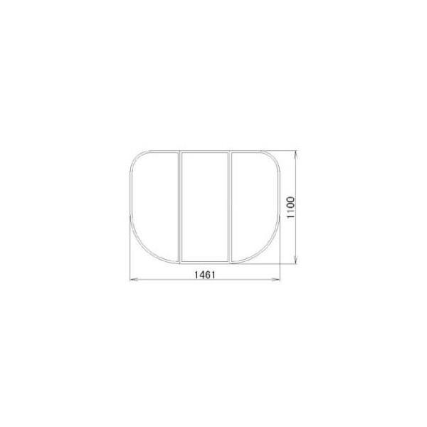 リクシル 住器用部品 バスルーム 浴槽 浴槽蓋:組み蓋 1110×1461 RMBX020 LIXIL トステム メンテナンス DIY リフォーム