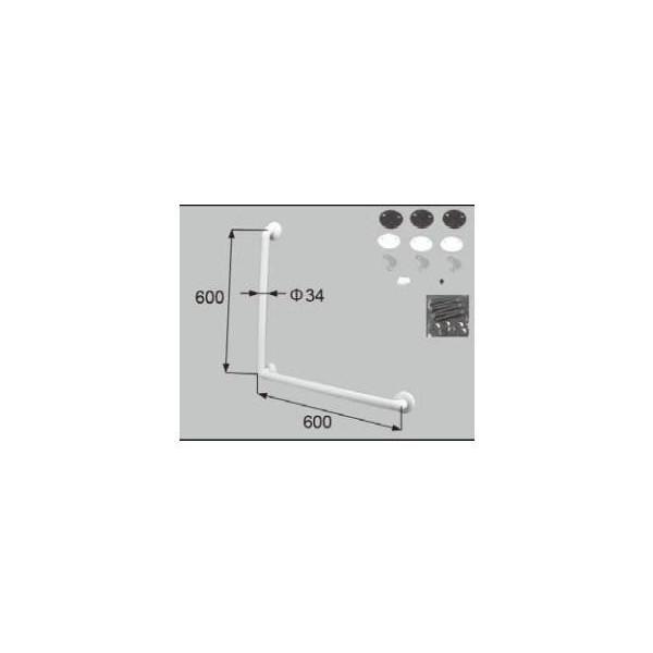 リクシル 住器用部品 バスルーム 器具 握りバー・タオル掛け:後付樹脂製ニギリバーL型 600×600 ホワイト RMEE301 LIXIL トステム メンテナンス DIY リフォーム
