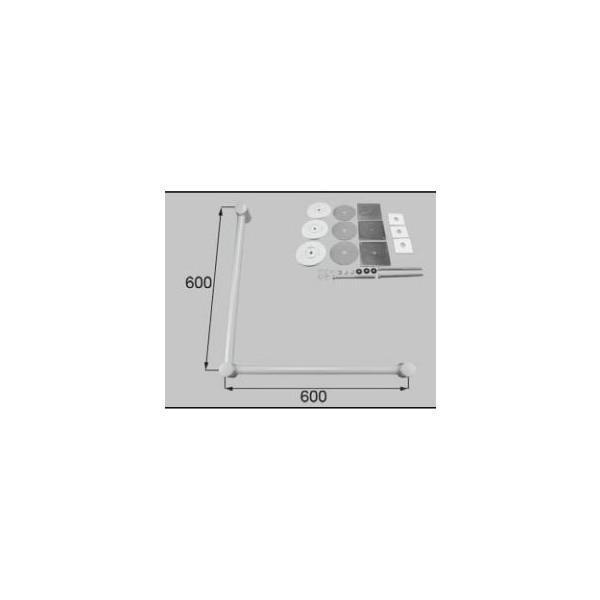 リクシル 住器用部品 バスルーム 器具 握りバー・タオル掛け:樹脂製ニギリバーL型 600×600 RTZZ009 LIXIL トステム メンテナンス ※メーカー在庫限り DIY リフォーム