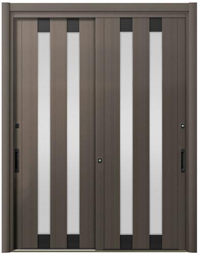 リシェント ReChent 玄関引戸 PG仕様 2枚建戸ランマ無 17型 2列スリット W:1,195~1,692mm × H:1,761~2,277mm 玄関ドア リクシル LIXIL DIY リフォーム
