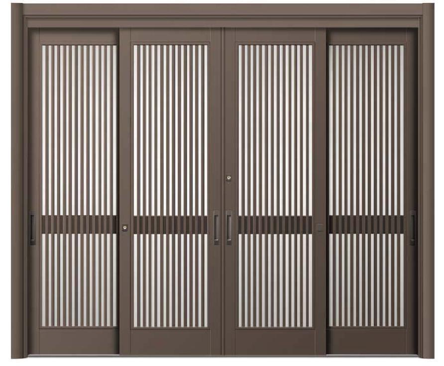 リシェント ReChent 玄関引戸 SG仕様 4枚建戸ランマ無 51型(千本格子) W:2,801-3,800mm × H:1,584-2,300mm 玄関ドア リクシル LIXIL DIY リフォーム