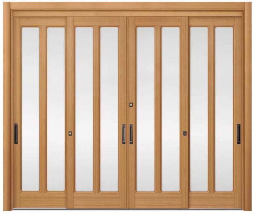 リシェント ReChent 玄関引戸 SG仕様 4枚建戸ランマ無 58型(隅丸格子) W:2,357-2,800mm × H:1,584-2,300mm 玄関ドア リクシル LIXIL DIY リフォーム