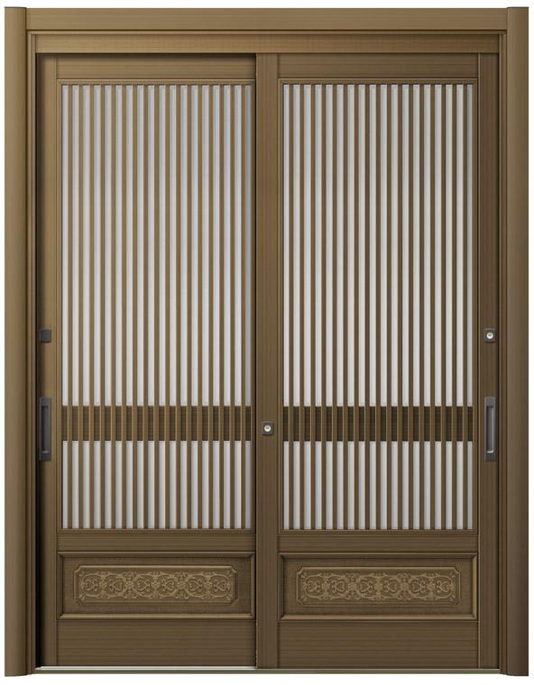 リシェント ReChent 玄関引戸 SG仕様 2枚建戸ランマ無 60型 千本格子腰付 W:1,693-1,870mm × H:1,584-2,300mm 玄関ドア リクシル LIXIL DIY リフォーム