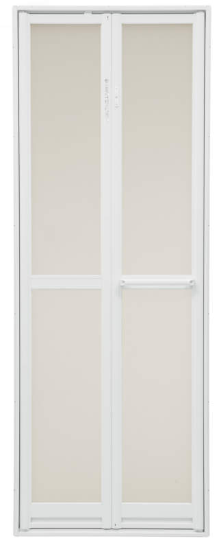 浴室2枚折ドア 内付型 樹脂パネル付き 0718 W:750mm × H:1,757mm 三協アルミ