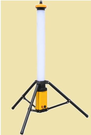 円柱形 LED 充電式 投光器 NEX-L36W 防水・防塵 IP65 二段階調光式 NEXcell ネクセル