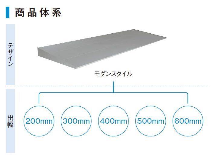 コンバイザー モダンスタイル 出幅:600mm 128060 W:1,440mm × H:85.1mm 先付 / 後付 ひさし YKKAP 窓まわり