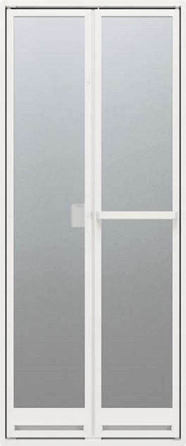 ドアリモ浴室ドア 折戸 四方アタッチメント枠 樹脂板入り 特注サイズ W:521~873mm × H:1,527~2,133mm YKK AP