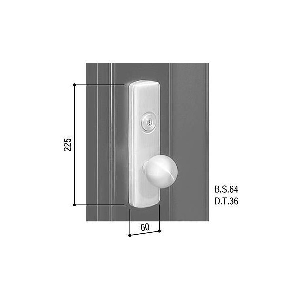 【YKKAPメンテナンス部品】外握り玉・内レバー(HH-J-0149) DIY リフォーム