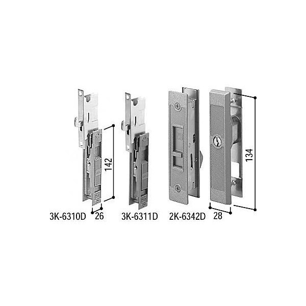 【YKKAPメンテナンス部品】引戸錠セット 2枚建用(HH-J-0220) DIY リフォーム