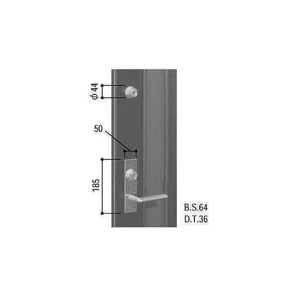 【YKKAPメンテナンス部品】レバーハンドル錠セット(HH-J-0508U9) DIY リフォーム