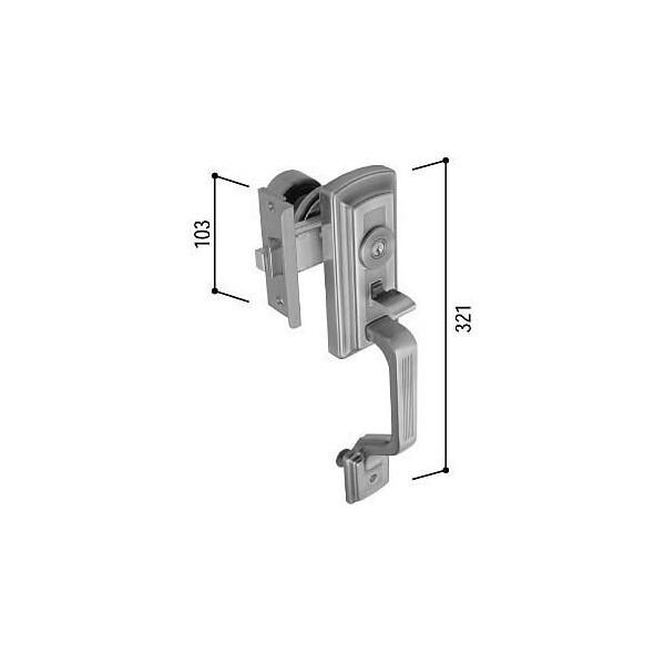 【YKK AP メンテナンス部品】 サムラッチハンドル錠セット (HH-K-16358)