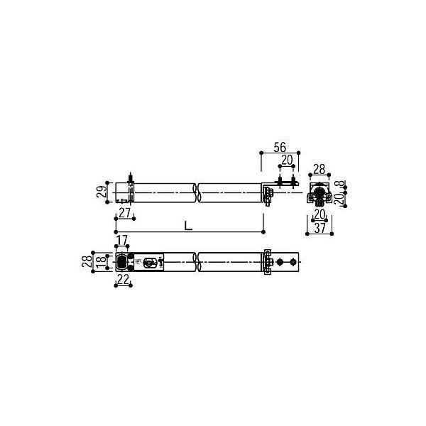 【YKKAPメンテナンス部品】クローザ(HH-2K-15520-790) DIY リフォーム