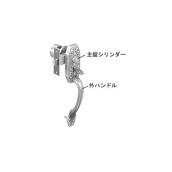【YKKAPメンテナンス部品】サムラッチ(外)・シリンダーセット(HH-J-0002) DIY リフォーム