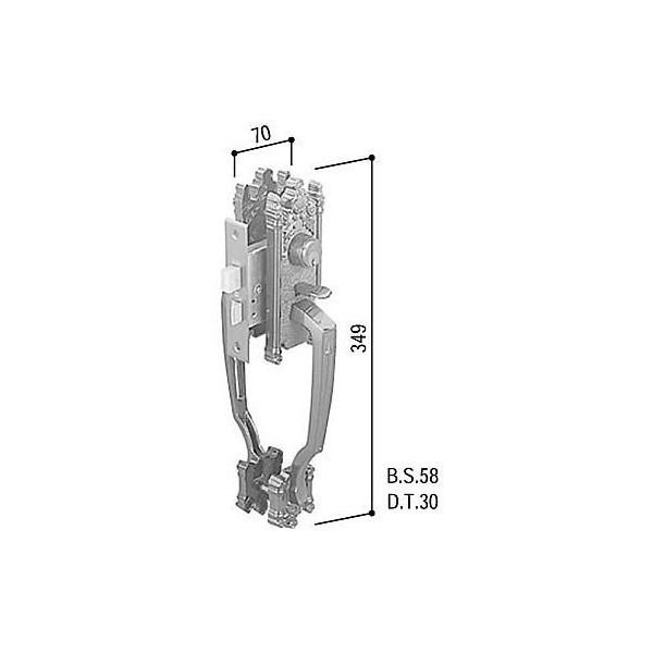 【YKKAPメンテナンス部品】サムラッチハンドル錠セット(HH-J-0233) DIY リフォーム