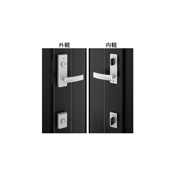 【YKKAPメンテナンス部品】レバーハンドル錠セット(KAG-D-1611A) DIY リフォーム