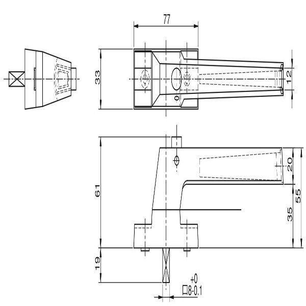 【YKKAPメンテナンス部品】ハンドル(HH-2K-13627) DIY リフォーム