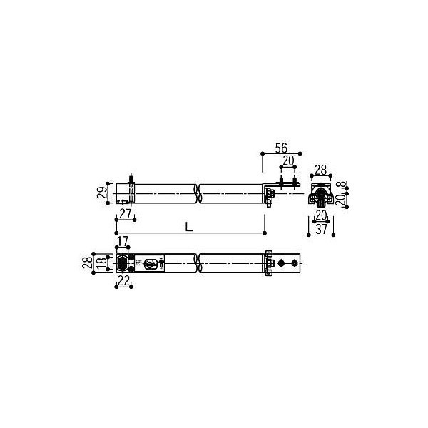 【YKKAPメンテナンス部品】クローザ(HH-2K-15520-825) DIY リフォーム