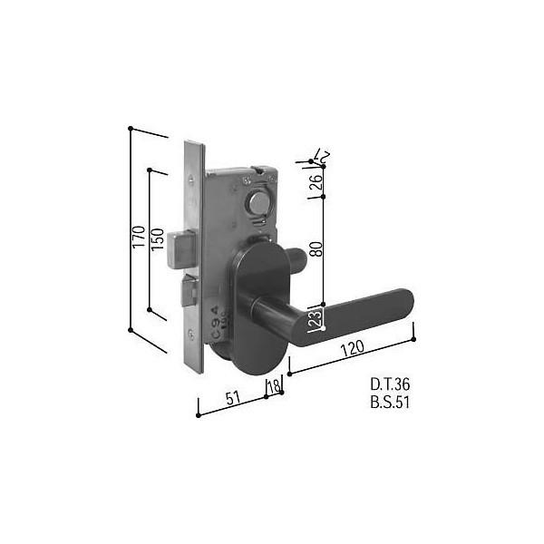 【YKKAPメンテナンス部品】レバーハンドル錠セット(HH-J-0388) DIY リフォーム