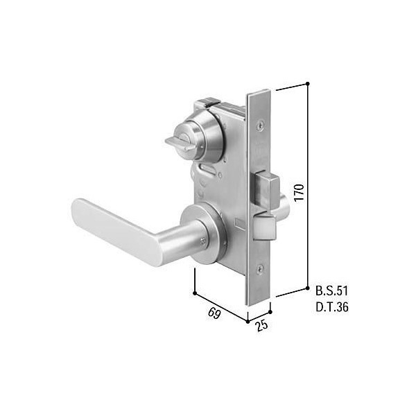 【YKKAPメンテナンス部品】レバーハンドル錠セット(HH-J-0492U9) DIY リフォーム